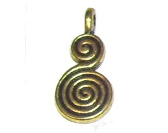 Spiral Charms x 20
