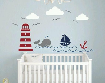 Nautical Baby Room Decal - Baby Room Decoration -