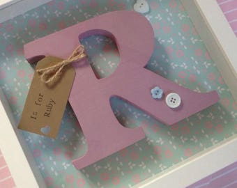 Customized Wooden letter shadow boxes