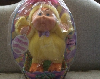 Cabbage Patch MIP Babyland Yellow Chick Doll Kristin Chirping 1992 Easter Basket