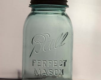 Quart Size Ball Perfect Mason Jar With Zinc Lid