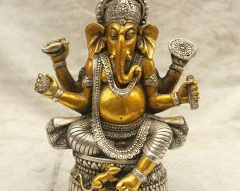 Ganesh Statue Two Tone