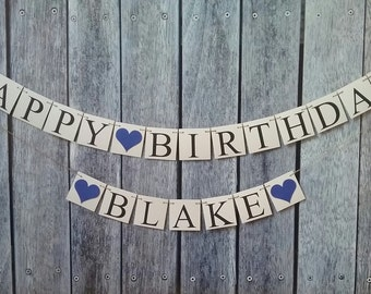 Birthday banner, happy birthday banner, personalized birthday banner, photo prop birthday banner, birthday decorations, birthday name sign