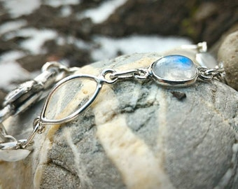 Moonstone bracelet for protection against negative energies.