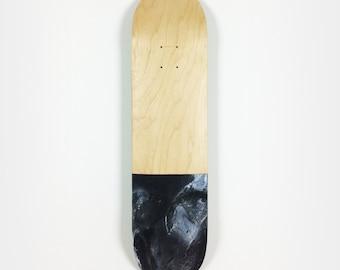 Skate black marble tray