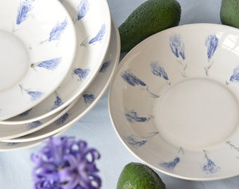 Ceramic Dish Set of 3, Soup Plates, Stoneware Bowls, Dinnerware Set, Bowls For Fruits, Large Bowl