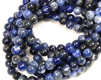 """Two 15.5"""" strands Sodalite Blue 6mm"""