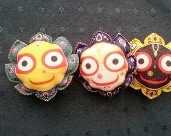 Felt Jagannath set Indian Toys