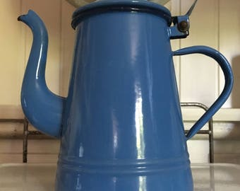 ENAMEL vintage enamelled coffee maker