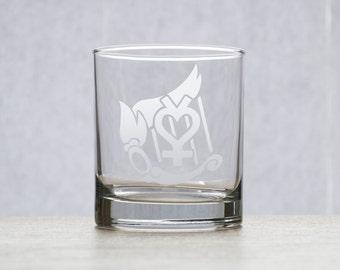 Sailor Mercury Etched Glass