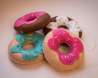 Handmade felt food, Felt ice-cream, Felt coffee cup, Felt Donuts, Felt ornaments, Christmas ornaments, Hanging decoration
