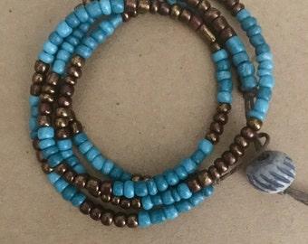 Boho Wrap Beaded Bracelet