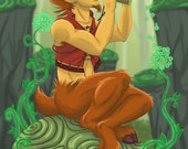 Special Edition Dragon Calling Character Postcard (Design 3, Norf the Satyr)