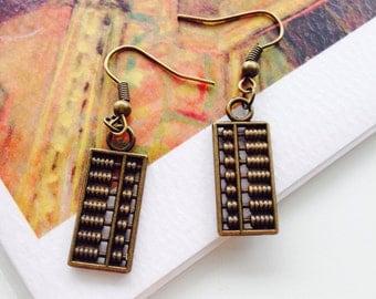 Funky Abacus Earrings-Drop Earrings