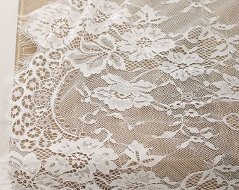 30x120 Inch Soft White Lace Table Runners/Overlay/Rustic Chic Wedding Reception/Table Runner/Boho Party/Bridal Shower Decor/Ship From USA