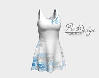 Printed dress, summer dress, sun dress, woman dress, trend dress, short dress, white dress, fashion dress