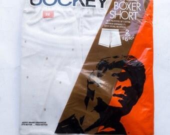 DEADSTOCK Men's Boxer Lot, sz 36 (Large) -- Jockey & Claybrooke Brands --> Striped Pattern