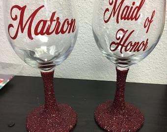 Bridesmaids Wine Cups