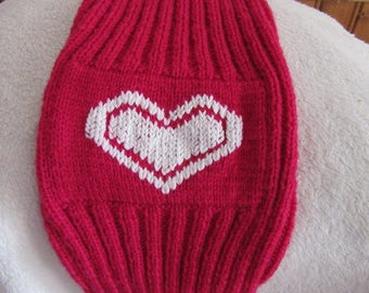 pullover of fuchsia color for sphynx cat