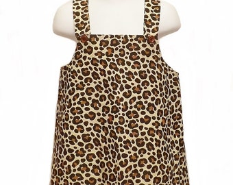 Leopard Print Dressing up Dress with Hair Band Ears