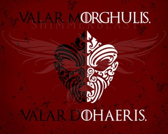 Game of Thrones svg   Valar Morghulis Valar Dohaeris svg   House of Black and White svg   Game of Thrones fan svg   GOT svg   Arya Stark svg