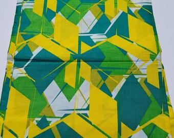 Green & Yellow African Fabric; Ankara Fabric; African Clothing; African Fabric in yard; African Headwrap;Ankara Fabric in yards;