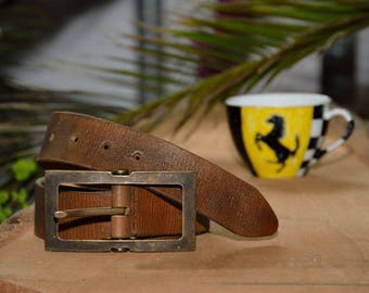 Leather Belt, Rustic Belt, Mens Leather Accessories, Vintage Belt, Vintage Leather Belt, Leather Belt