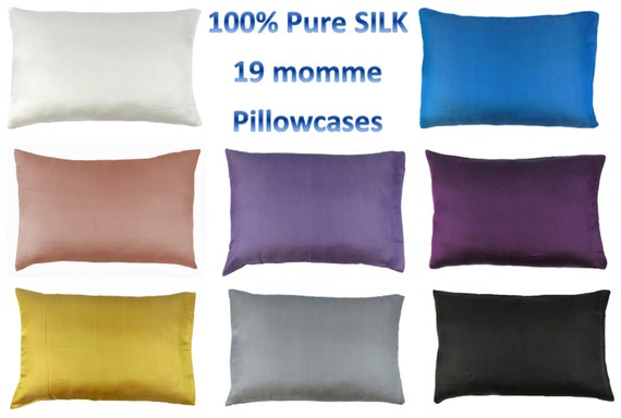 Choose Your Color 100 Pure Mulberry Silk Pillowcase 19 Momme
