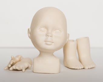 Body Set parts to create a Ceramic doll