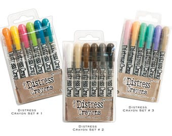 Tim Holtz Distress Crayons Sets