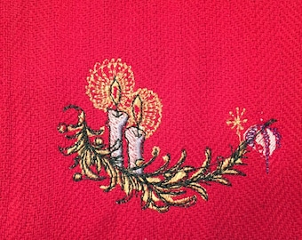 Embroidered Christmas Candles