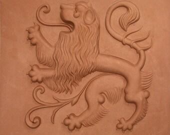 Lions Relief, red, Origins of Brunswick