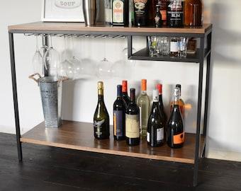 Midcentury Modern Bar Cart / liquor cabinet / table / Mid Century / Wood & Metal