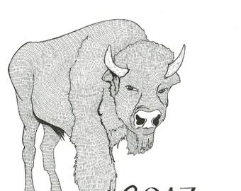 2017 Animal Calendar (no clipboard)