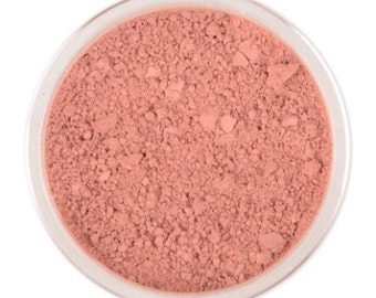 Natural Mineral Blusher - Sorbet - 3g sifter jar (vegan, cruelty-free makeup, loose blush powder tint, perfect for acne & sensitive skin)