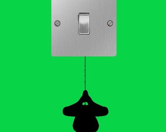 Hanging spiderman superhero light switch wall art decal sticker