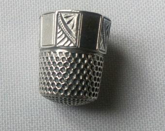 Vintage Silver Thimble