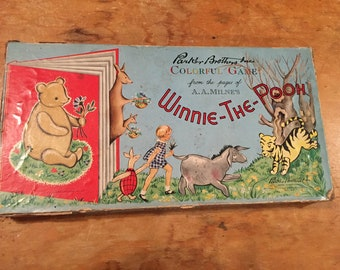 Vintage Retro 1959 Winnie-the-Pooh Board Game Parker Brothers Colorful game A.A. Milne