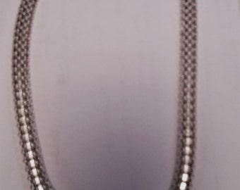 "Italian 17"" Bold Sterling Silver Necklace"