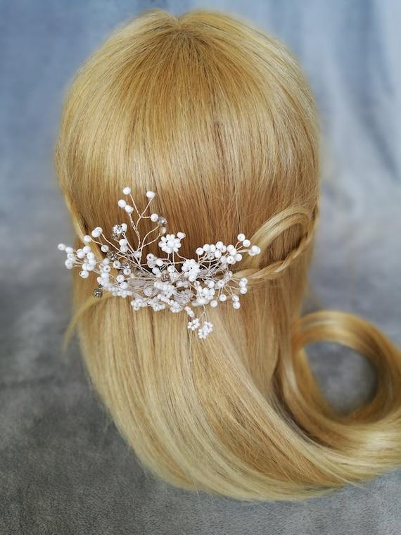 Baby S Breath Hair Comb Wedding Hair Accessories Hair