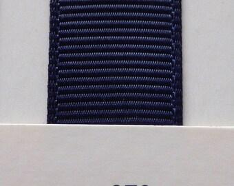 """1""""/ 26mm Grosgrain Ribbon in Navy #370 x 2 meters"""