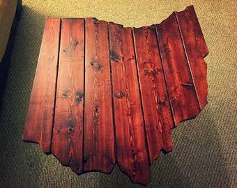 Stained Ohio Wood Coffee Table - Stained Wood, Painted Furniture, End Tables, Industrial, Modern