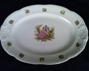 Vintage Walbrzych  Serving Plate, Made in Poland