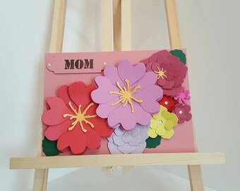 Handmade 3D Floral Birthday Card, Mum Cards, Floral Birthday cards, Mothers Day Cards, Flower  birthday Card, Cards for mom, card for her