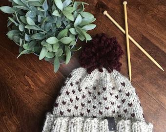 Wool Knit Hat // Cute Knitted Hat // Womens Knit Hat