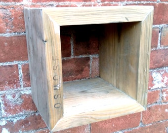 Rustic Wood Box Display Storage Reclaimed Wood. Great Storage which can be put nearly anywhere. 100% Reclaimed Materials