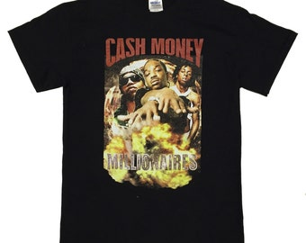 Custom Cash Money millionaries  Vintage Classic 90s Hip Hop T-shirt