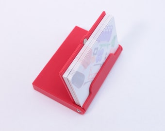 "Business Card Holder / Convertible Stand, Case for 20-25 2.5""x 3"" Business Cards"