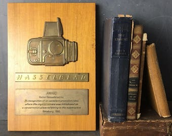 HASSELBLAD award plaque