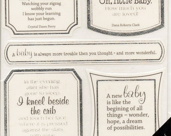 Baby Girl Boy Vellum Quotes  Sticko  Scrapbook Stickers Embellishments Cardmaking Crafts